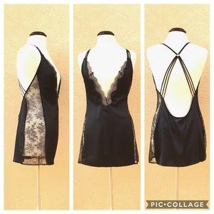 NWT Victoria's Secret Silk & Lace Mini Slip L